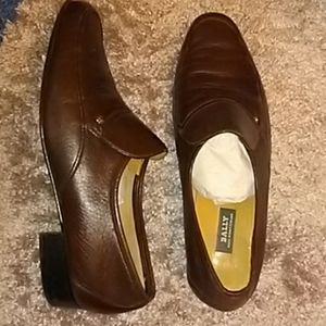 Bally Men's Leather Loafers Slip Ons 11